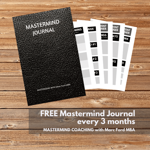 Free Mastermind Journal every 3 months with Marc Ford Business Coach in Leicester