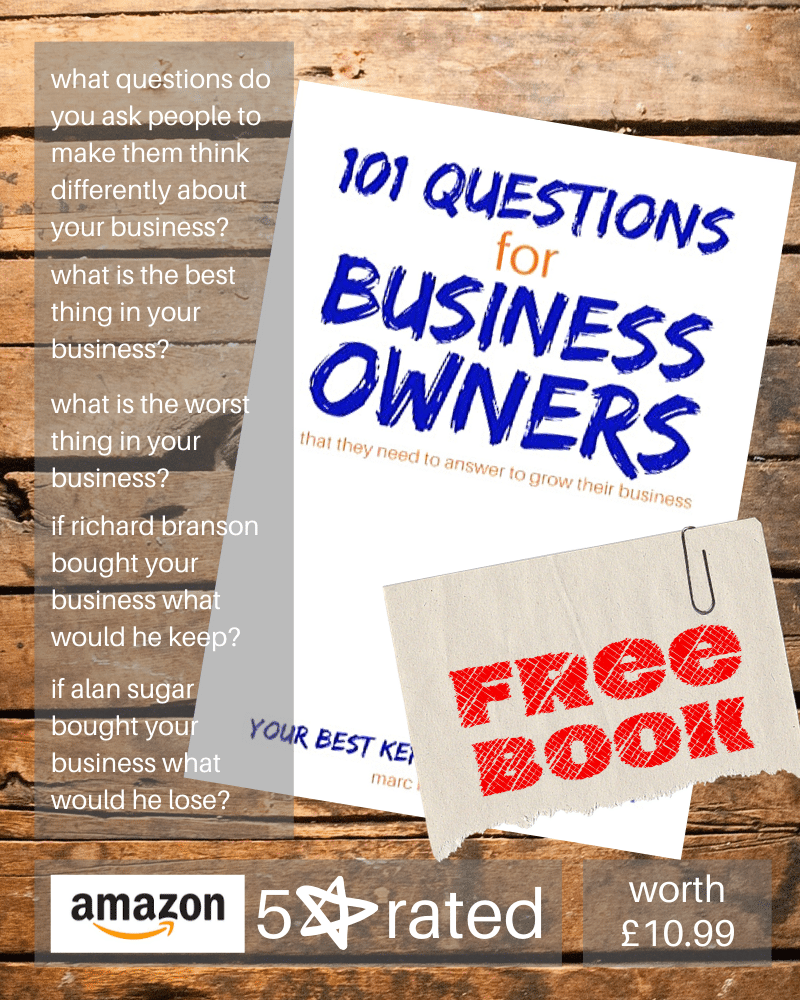 101 questions book by Marc Ford business coach in Leicester
