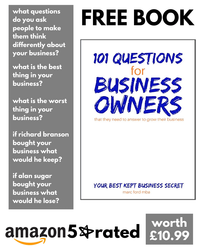 free business coaching book from Marc Ford business coach in leicester, Leicestershire who does business coaching