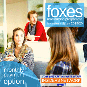 foxes mastermind coaching group with business coach Marc Ford in Leicester