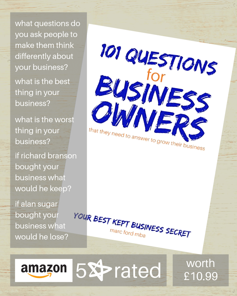 Marc Ford business coach Leicester business book 101 questions book