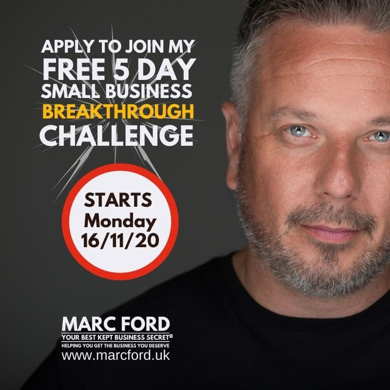 small business breakthrough challenge Marc Ford business coach leicester