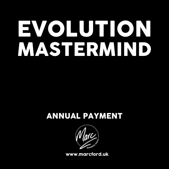 The Evolution Mastermind Group for business owners with Marc Ford MBA in Leicester