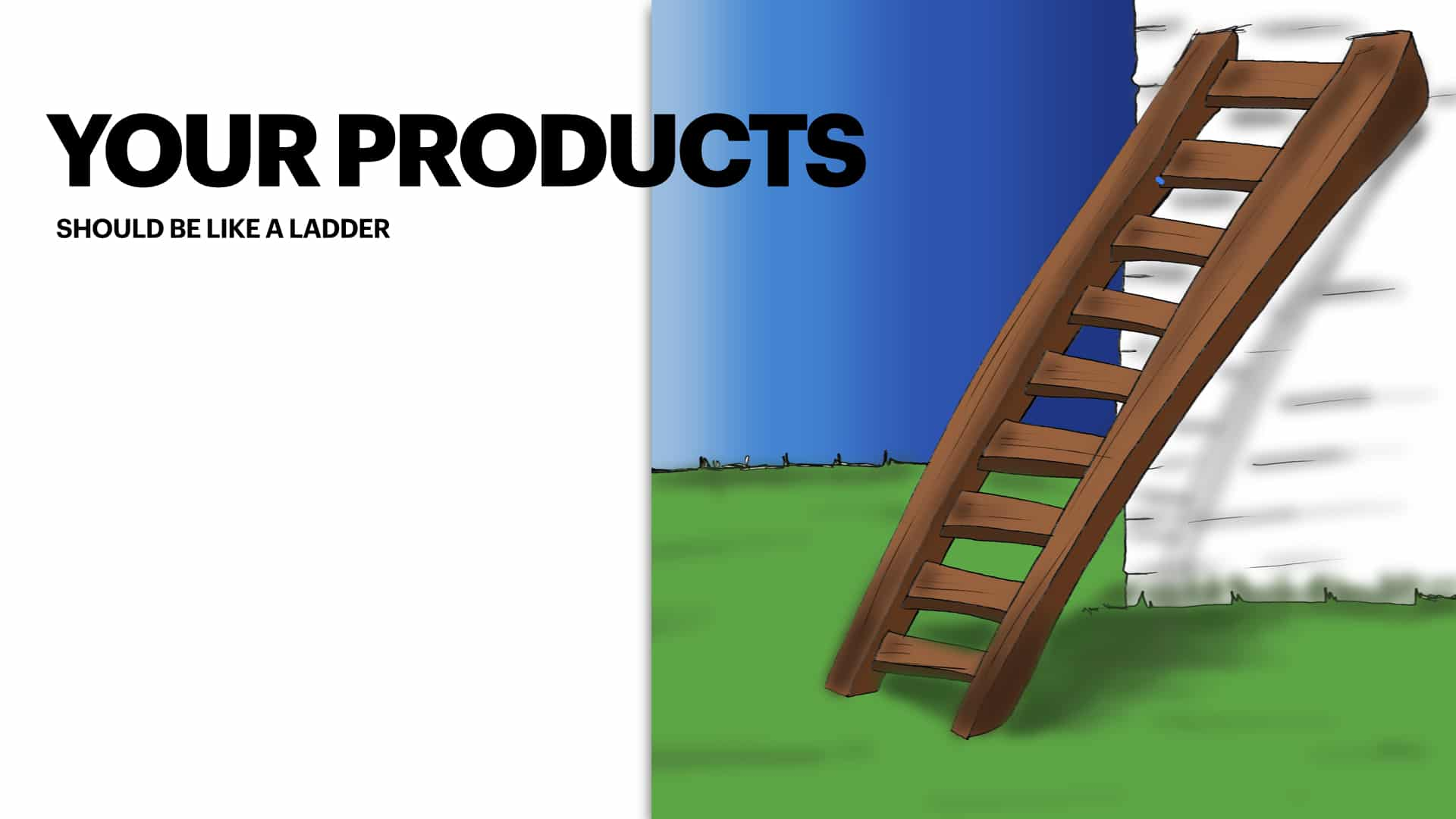 Your products should be part of a ladder in your small business