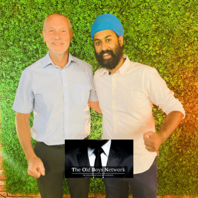 Terry, Business Debt Expert and Harmeet, Marketing Specialist at The Old Boys Network - Networking for Gentlemen in Business in Leicester