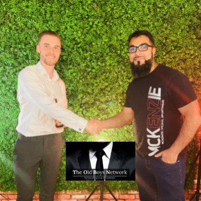 Connall, Client Service Manager and Azar, Business Energy Expert at The Old Boys Network - Networking for Gentlemen in Business in Leicester